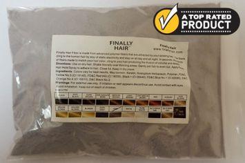 Hair Fibers 228g Refill Refill Bag - 228 Gram 1/2 Pounder Hair Filler Fiber