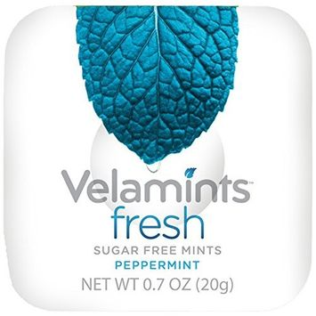 Velamints Fresh Sugar Free Mints Tin, Truvia Sweetened, Peppermint 28 Count (Pack of 6)