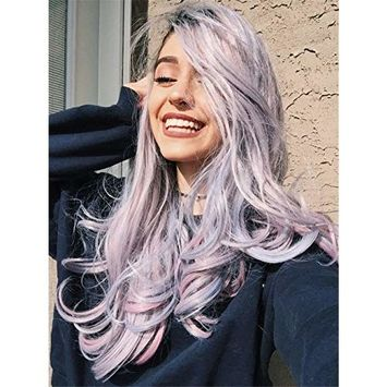 ALICE Lace Front Wigs Ash Grey Wig 24