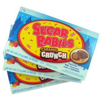 Sugar Babies Caramel Crunch Candy, Pack of 3