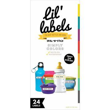 Bottle Labels, Write-On, Self-Laminating, Waterproof Kids Name Labels for Baby Bottles, Sippy Cup for Daycare School, Dishwasher Food Kitchen Safe