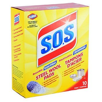 S.O.S Steel Wool Soap Pads,10 Count Box (6 Boxes Total/60 Pads Total)