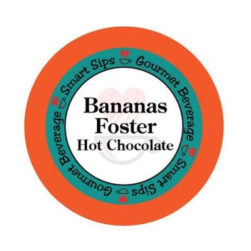 Smart Sips Coffee Bananas Foster Hot Chocolate, 48 Count, Single Serve Cups Compatible With All Keurig K-cup Brewers