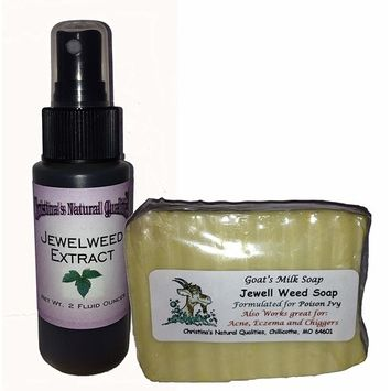 Jewelweed Extract AND Soap - Poison Ivy, Poison Oak, Chiggers, Rashes