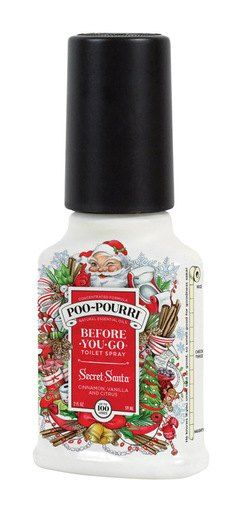 POO-POURRI® Secret Santa Cinnamon Vanilla Citrus Scent Odor Eliminator