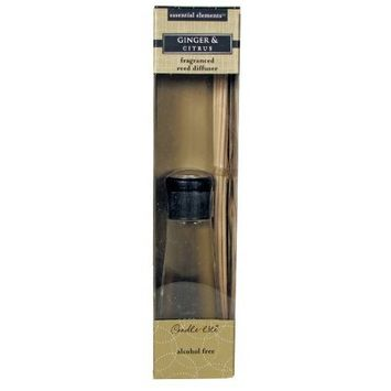 CANDLE-LITE Essential Elements 3.3-Ounce Reed Diffuser, Ginger and Citrus