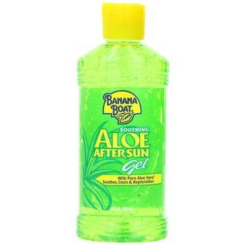 Banana Boat Aloe Vera Sun Burn Relief Sun Care After Sun Gel - 8 Ounce (Pack of 4)