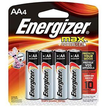 3 Pack - New Energizer MAX E91BP-4 AA Alkaline Batteries 4 Batteries per Package