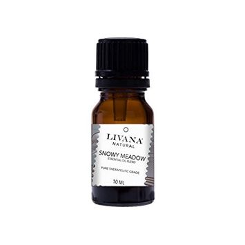 Snowy Meadow Signature Essential Oil Blend by Livana, 10ml, for Aromatherapy, Diffusors and DIY Beauty Products [Snowy Meadow]