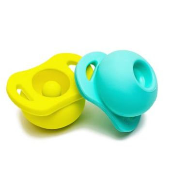 Doddle And Co The Pop Infant Doddle & Co. 2-Pack The Pop Pacifier, Size One Size - Blue/green
