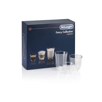 Fancy Collection 6 Glass Set - 2 Espresso, 2 Cappuccino, 2 Latte Macchiato Glasses