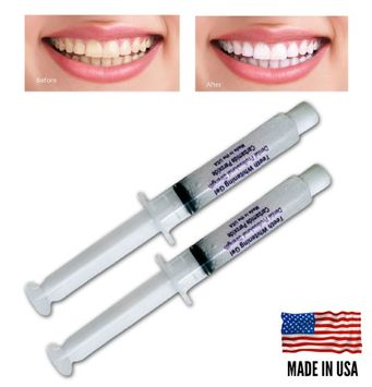 Always White Teeth Whitening 2 Syringes 35% Gel Professional Tooth Bleaching