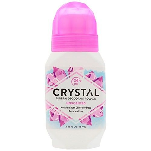 Crystal Body Deodorant Roll-On - Unscented (2.25 fl oz)- Pack of 4