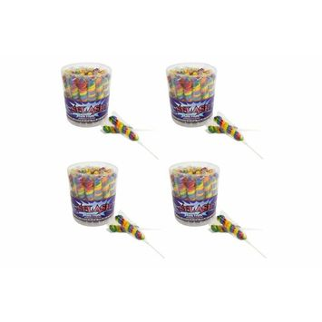 Albert's Color Splash Pops Tubs 30 Count - Rainbow - Tuitti Fruitti Flavor (4 Pack)