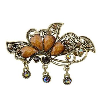 Urberry Retro Hari Clips, Crystal Elegant Style Hair Clips Beauty Tools for Women