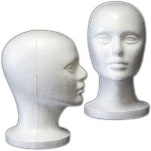 "(6 Pack) Styrofoam Model Heads w/ ""Stabili-Base"" Design by 3rd Power - Hat Wig Foam Mannequin : Hair Replacement Wigs : Beauty"