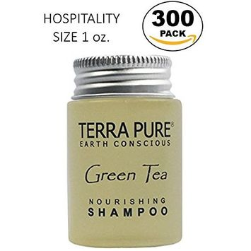 Terra Pure Green Tea Shampoo, 1 oz. In Jam Jar With Organic Honey And Aloe Vera (Case of 300)