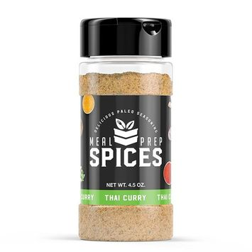 Meal Prep Spices Thai Curry Seasoning - Paleo, Kosher, and Gluten Free - One (1) 4.5oz Bottle