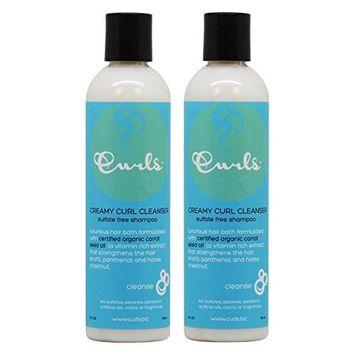 Curls Creamy Curl Cleanser Sulfate-free Shampoo 8oz