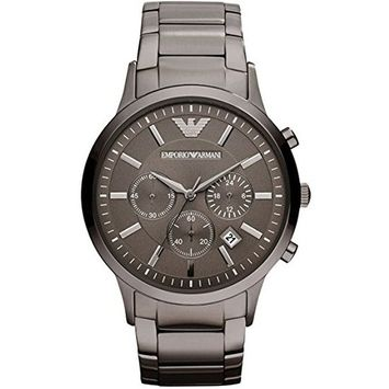Emporio Armani Men's Classic Chronograph Stainless Steel Gunmetal Watch AR2454