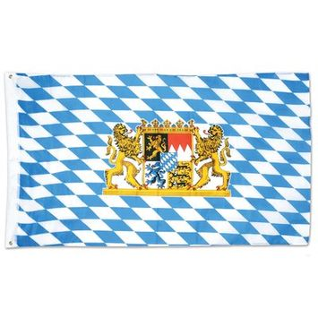 Beistle 53332 Bavaria National Country Flag, Blue - Pack of 12