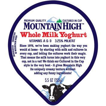 Mountain High™ Peach Whole Milk Yoghurt