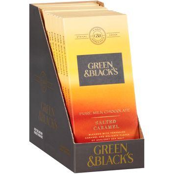 Green & Black's Salted Caramel Pure Milk Chocolate 1 Bars