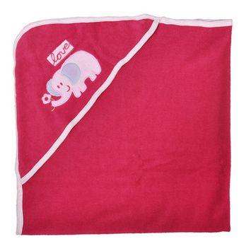 Tadpoles Cotton Embroidered Hooded Towel, Elephant BHTBTC609