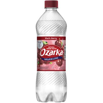 OZARKA Black Cherry Sparkling Natural Spring Water 20oz Bottle