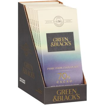 Green & Black's 70% Cacao Pure Dark Chocolate 1 Bars
