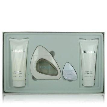 Vermeil White ZZGSWVERMEILWHITE4P3 4 Piece Gift Set - 3 oz Eau De Parfum, 0.5 oz Eau De Parfum, 5.1 oz Shower Gel & 5.1 oz Body Lotion for Women