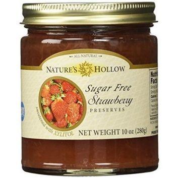 Nature's Hollow Sugar-Free Strawberry Jam Preserves, 10 Ounce [Strawberry]