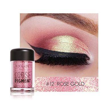 Pro Makeup Glitter Eyeshadow Shimmer Pigment Loose Powder Beauty Makeup Nude Eye Shadow Rose G