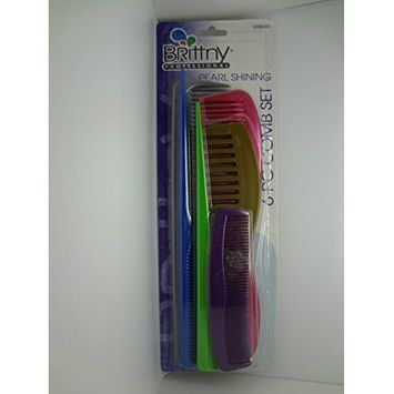 Brittny Professional Pearl Shining 6-PC Comb Set