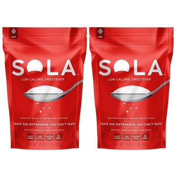 Sola Low Calorie Sweetener, 16oz Twin-Pack [16oz Pouch Twin-Pack]