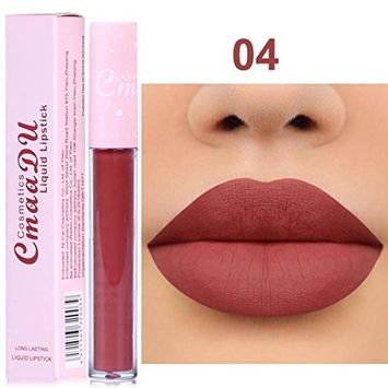 Lipstick Promotion - Franterd New 2018 Velvet Matte Liquid Lip Gloss - Long Lasting Waterproof Lip Liner Profession Make up Cosmetics Non-stick, Soft texture, Natural,Beauty
