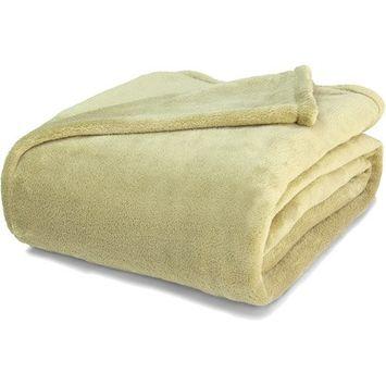 GGI International Massage Table Flannel Blanket, Beige
