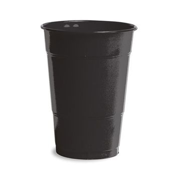 16 oz Solid Plastic Cups Black Velvet/Case of 240