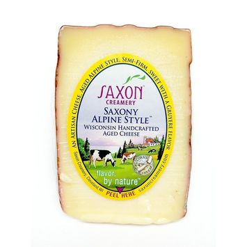Saxon Creamery Saxony Alpine Cheese 8oz Wedge