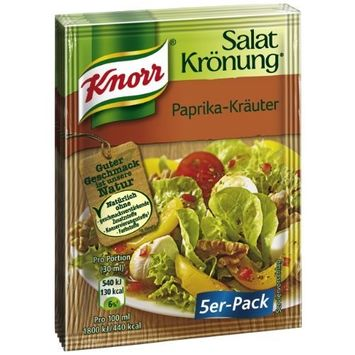 Knorr Salat Kronung Paprika-Krauter (Salad Herbs with Paprika), 5-Count Packets (Pack of 5)
