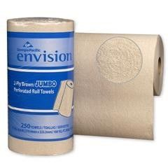 Envision Kitchen Paper Towel Roll 8.8 X 11 Inch, Case of 12, 10 Pack (120 Total)