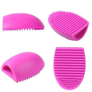 Makeup Brush Cleaning Mat, Molie Silicone Brush Cleaner Brushegg Make Up Brushes Egg Little Scrubber