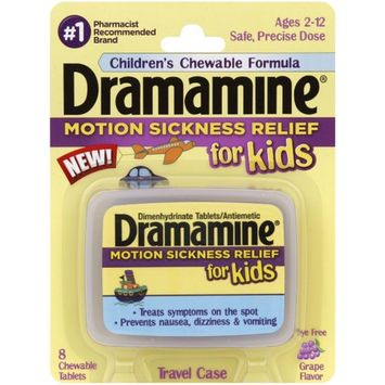 Dramamine for Kids Chewable Tablets, Grape Flavor 8 ea