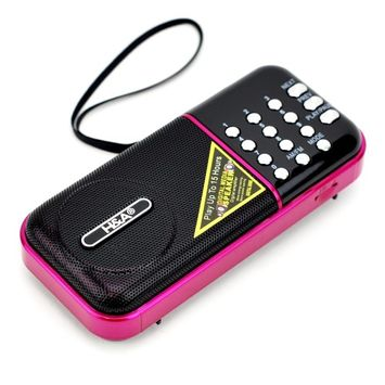 H & A Portable Radio Am Fm, Best Mini Mp3 Player Fm Am Radio With Batteries (pink)