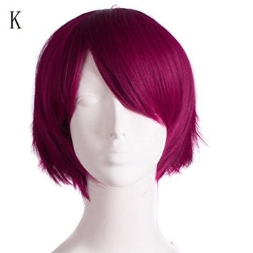 CYCTECH New Popular Men Cosplay Hair Lace Front Wig Short Extensions Hair Synthetic Hairpieces Friendly (MulticolorK)