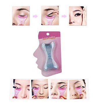 Hunputa Women's Ladies Eyeliner Eye Liner Template Stencil Shaper Makeup Assistant Helper Guide Tool for Beginners