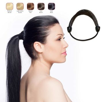 Buy 2 Hollywood Hair Elastic Hair Tie and get 1 Fish Tail Braid Headband - Bold Black (Pack of 3)