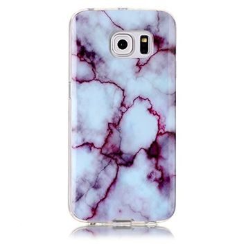 UCLL Samsung Galaxy S6 Case ,Galaxy S6 Marble Deasign Case Soft Flexible TPU Slim Fit Protective Cover Case for Samsung Galaxy S6 with a Screen Protector (gray)
