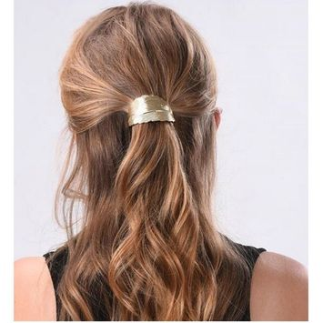 Joyci 1Pcs Big Leaf Ponytail Holder Women's Gift Hair pin Lady Claw Barrettes Accessory (G