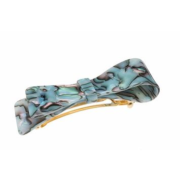 France Luxe Ribbon Bow Barrette - South Sea
